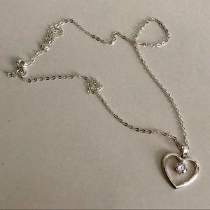 NIB 925 'Mom Jordan' Heart Shaped Pendant